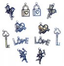 Scrapbook Basics Charms - Love (12 pieces)