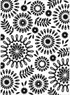 Darice Embossing Folder - Circles Floral