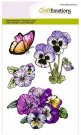 Craftemotions A6 Clearstamp Set - Violets #1