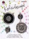 Cousin Kaleidoscope Accent Charm Set - Black (4 charms)