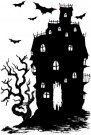Deep Red Cling Stamp - Haunted House