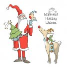 Art Impressions Cling Rubber Stamp Set - Christmas Holiday Wishes