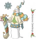 Art Impressions Cling Rubber Stamp - Seasons Greetings