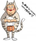 Art Impressions Halloween Cling Rubber Stamp Set - Check Meowt Set