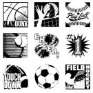 Inkadinkado Inches Clear Stamp Set - Sports Inchies Bundle