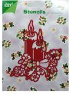 Joy Crafts Metal Stencil - Christmas Candles