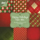 "Joy Crafts 6""x6"" Paper Pad - Christmas Happy Holidays #1 (36 sheets)"