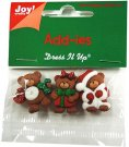 Joy Crafts Add-ies X-mas Christmas Bears