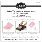 "Sizzix Adhesive Sheet Pack - 6"" x 6"" Permanent, 10 Sheets"