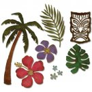 Sizzix Thinlits Die Set - Tropical by Tim Holtz (8 pack)