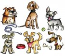 Sizzix Framelits Die Set - Crazy Dogs by Tim Holtz (23 dies)