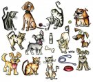 Sizzix Framelits Die Set - Mini Crazy Cats & Dogs by Tim Holtz (45 dies)