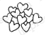 Impression Obsession Rubber Stamps - Basket Hearts