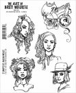 Brett Weldele Stampers Anonymous - Steampunk Selfie Ladies Cling Rubber Stamp Set