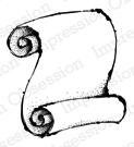 Impression Obsession Cling Rubber Stamp - Scroll