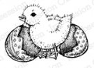 Impression Obsession Rubber Stamp - Easter Chick