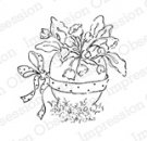 Impression Obsession Cling Rubber Stamps - Lily Egg