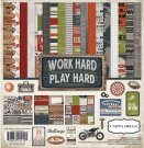 "Carta Bella - 12""x12"" Work Hard Play Hard Collection Pack (13 sheets)"