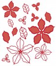 Creative Expressions Dies by Sue Wilson - Festive Collection Poinsettia Additions (14 dies)