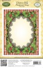 JustRite Cling Background Stamp - Christmas Holly Background Stamp