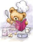 Wild Rose Studio Clear Stamps - Teddy Cooking