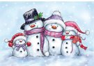 Wild Rose Studio Clear Stamp - Snowman
