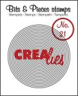 Crealies Clearstamp Bits&Pieces no. 21 Circles in Circle