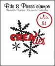 Crealies Clearstamp Bits&Pieces no. 31 Snowflake #1