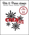 Crealies Clearstamp Bits&Pieces no. 32 Snowflake #2