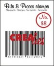 Crealies Clearstamp Bits&Pieces no. 38 Barcode
