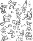 Tim Holtz Stampers Anonymous - Mini Cats & Dogs