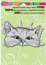 Stampendous Cling Stamp - Nosy Cat