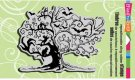Stampendous Cling Rubber Stamp - Halloween Twisted Tree
