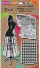 Stampendous Cling Rubber Stamp - Dress Form