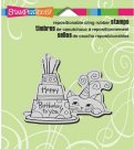 Stampendous Cling Stamp - Cat And Cake