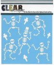 "Clear Scraps 6""x6"" Stencils - Happy Skeletons"