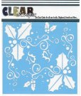 "Clear Scraps 6""x6"" Stencils - Holly Fun"