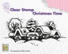 Nellies Choice Clearstamp - Christmas Time Snowy Village