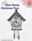 Nellies Choice Clearstamp - Christmas Time Clock