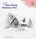 Nellies Choice Clearstamp - Christmas Time Snowy House