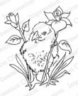 Impression Obsession Cling Rubber Stamps - Chick