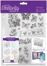 Docrafts A5 Clear Stamp Set - Butterflies (16 stamps)