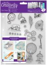 Docrafts A5 Clear Stamp Set - Steampunk (16 stamps)
