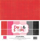 "Echo Park 12""x12"" Collection Kit - Valentine Dots & Stripes (12 sheets)"