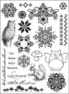 Marianne Design Elines Clear Stamp Set - Let It Snow