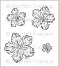 Heartfelt Creations - Open Vintage Floret Pre-Cut Cling Mounted Stamp Set (4 stamps)