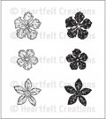 Heartfelt Creations - Mini Vintage Floret Pre-Cut Cling Mounted Stamp Set (6 stamps)