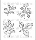 Heartfelt Creations - Open Leaf Pre-Cut Cling Mounted Stamp Set (4 stamps)