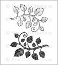 Heartfelt Creations - Classic Leaf Pre-Cut Cling Mounted Stamp Set (2 stamps)