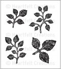 Heartfelt Creations - Bold Leaf Pre-Cut Cling Mounted Stamp Set (4 stamps)